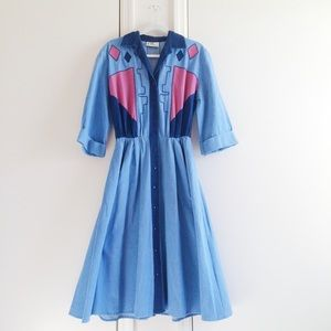 Willi of California Vintage Button Dress